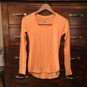 Orange Long sleeve Workout top by CALIA🥰